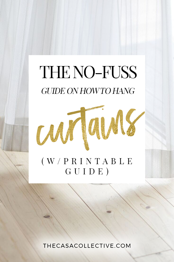 the no fuss guide on how to hang curtains