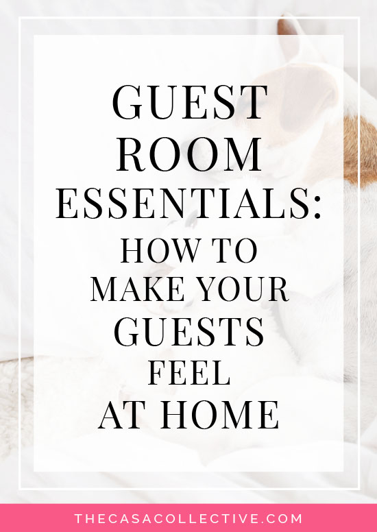 Guest Room Essentials: How to Make Your Guests Feel at Home | Want to create a cozy guest room? Make sure your visitors have everything they need for a comfortable stay with these must-have guest room essentials. | #guestroomessentials #guestroom #bedroom #entertaining