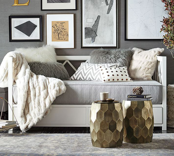 Small space decorating 10 ways to help small rooms live for Pottery barn small spaces furniture