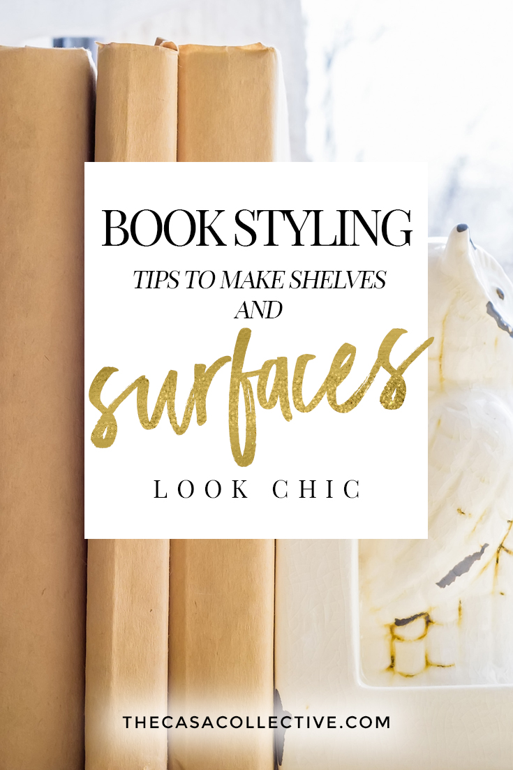 Decorating with Books: Book Styling Tips That Will Make Your Surfaces Instagram-Worthy | Learn how to make your bookcases, surfaces, and vignettes Instagram-worthy by decorating with books to quickly bring character and style to your home. | TheCasaCollective.com | #decoratingwithbooks #bookstyling #decoratingbookshelves