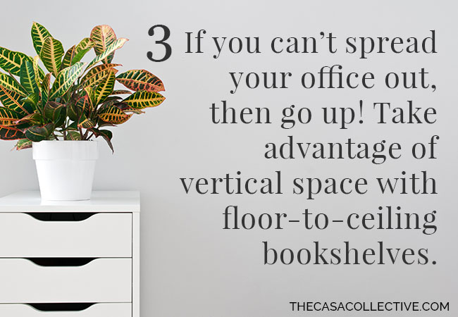 Home Office Organization: 12 Simple Tips | Whether you use the space to pay bills or earn a living, these home office organization tips & tricks will help it to function efficiently and effectively. | thecasacollective.com | #homeofficeorganization #homeoffice #organization #homeofficeorganized #homeofficeorganizing #homeofficetips #organizationtips