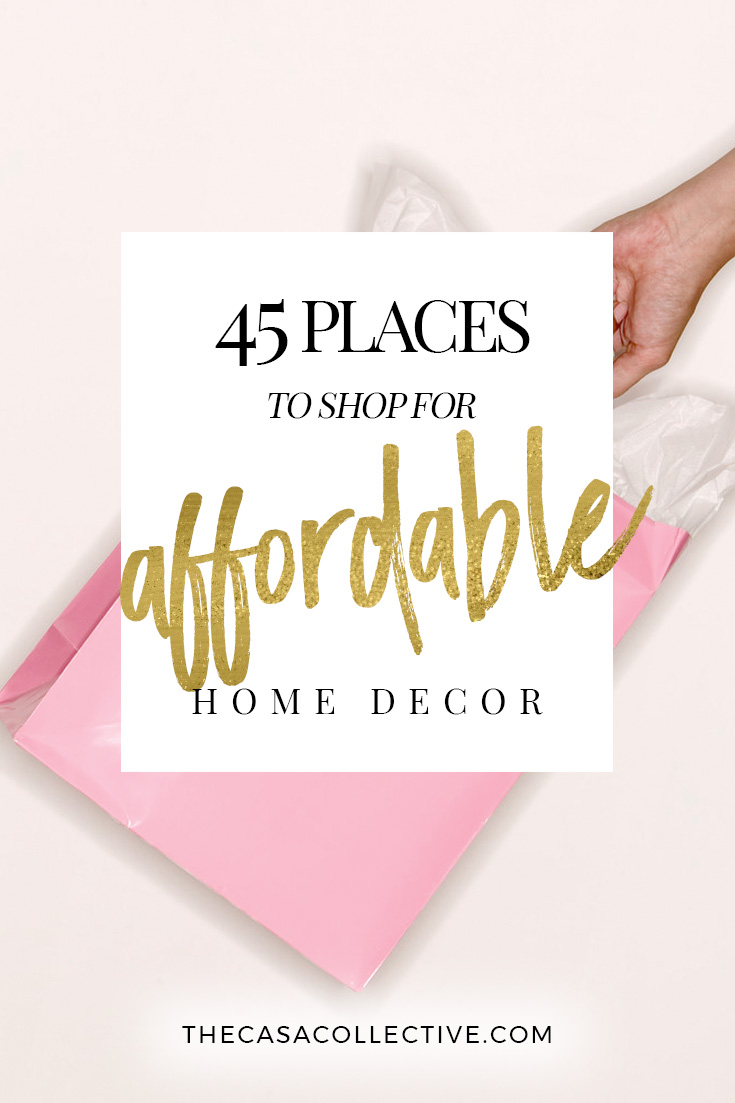 45 places to shop for affordable home decor for Affordable home accents
