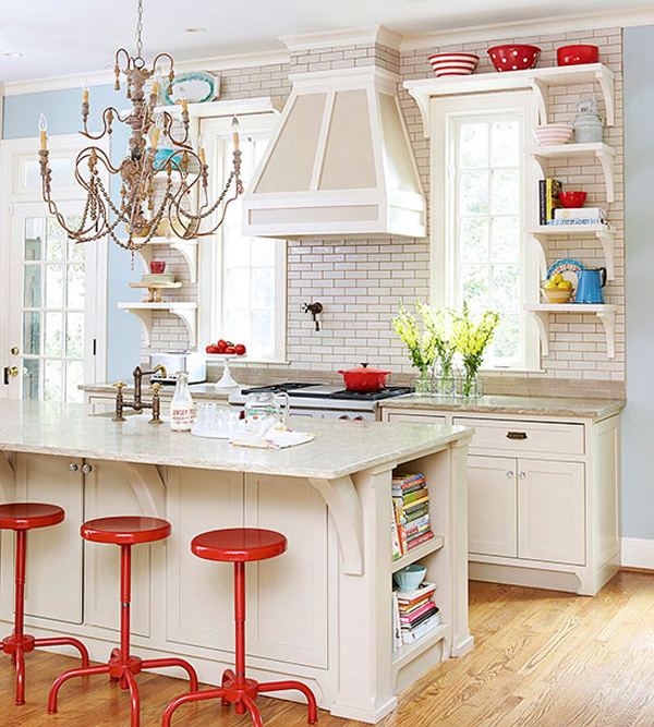 10 Ideas for Decorating Above Kitchen Cabinets | Not sure what to do with that awkward & 10 Stylish Ideas for Decorating Above Kitchen Cabinets
