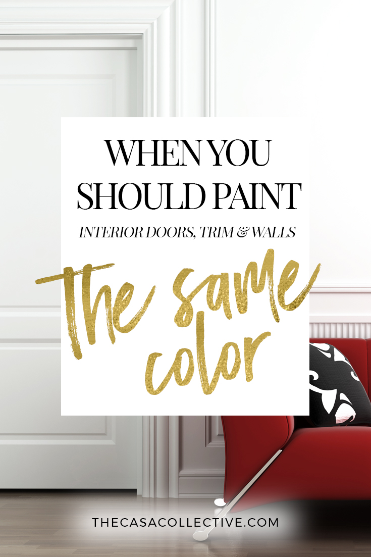 Painting interior doors trim walls the same color for Cost to paint interior doors and trim