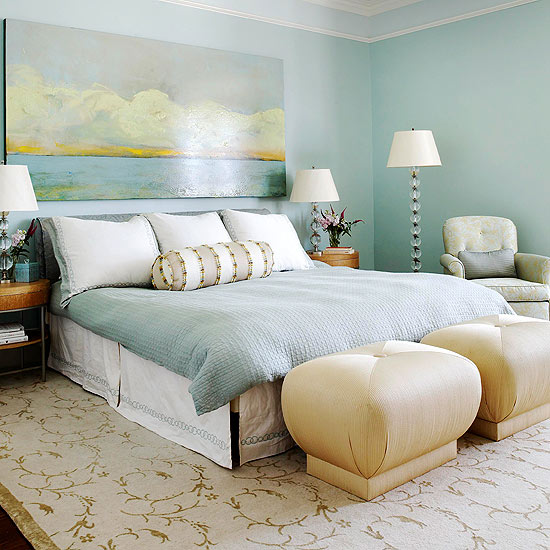 10 ideas to decorate above your bed that you can do today Master bedroom art above bed