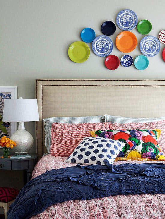 Wondering how to decorate above your bed? Here are 10 bedroom decorating ideas that creatively solve that common dilemma. One may even surprise you! | TheCasaCollective.com | #decorateaboveyourbed #bedroomdecoratingideas #bedroomdecor