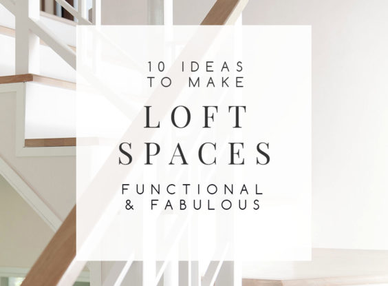 A loft space can sometimes pose a challenging decorating dilemma. What do you do with that undefined space? I've put together 10 ways that you can use this awkward area that will have you wondering how you lived without it. | TheCasaCollective.com | #loftspaces #landingspaces #interiordecorating #interiordesign