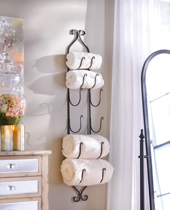 most bathrooms no matter if theyre large or small can benefit from - Towel Storage