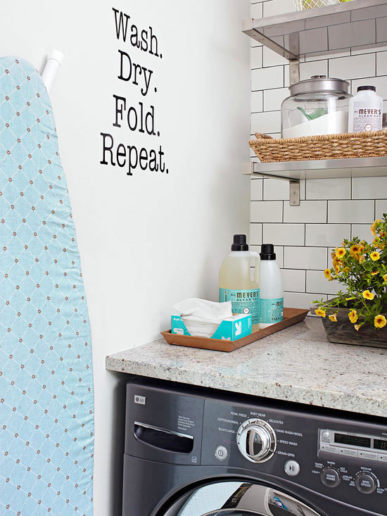 Does your laundry room look neglected and tired? The laundry room is one of the busiest rooms in the house and deserves to look just as nice as every other space. These creative ideas will keep it organized, efficient and looking fabulous. | TheCasaCollective.com | #laundryroomideas #laundryroomorganization #laundryroomdesign #laundryroom