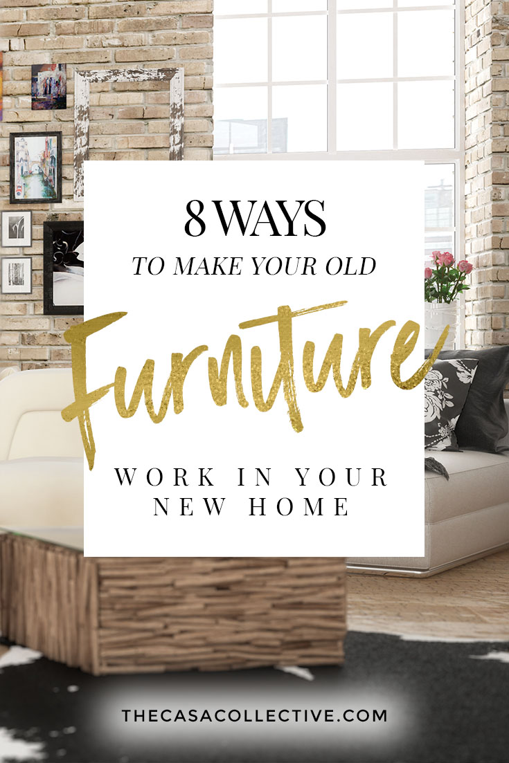 When moving, most people usually take all their furniture from one place to another and deal with it. They don't go out and buy new things every time they move. So what do you do if your old furniture isn't playing nicely with the new place? Check out my tips on how to make your old furniture work in your new home.   TheCasaCollective   #oldfurnitureworkinyournewhome #moving #furniture #furniturearrangement #newhome #newhomedecorating #interiordesign #interiordecorating