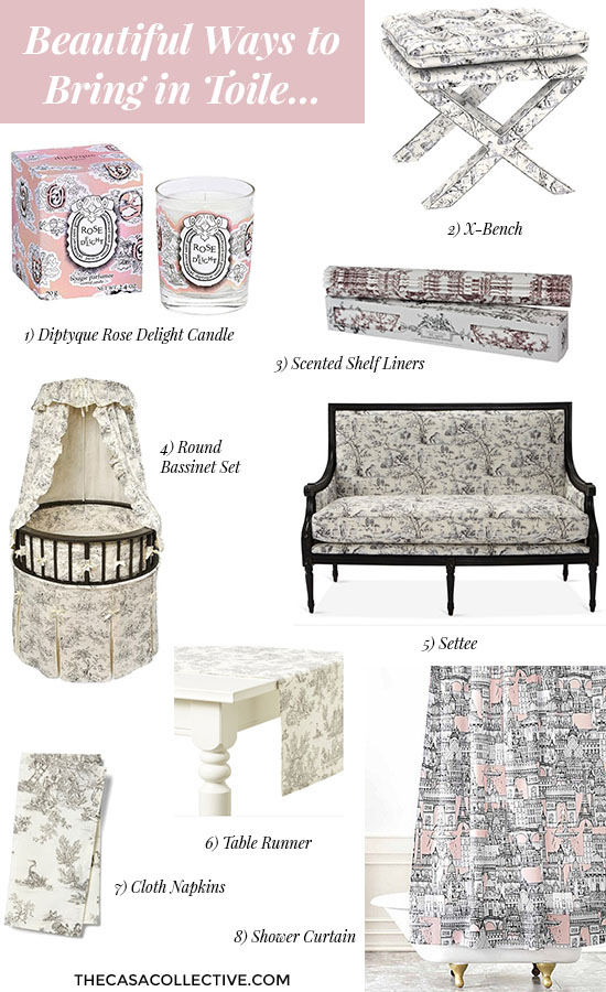 Love this blog! Today I discovered how to decorate with (and pronounce!) toile de Jouy. I love all the different ways you can use it and how it goes with almost any style! | #toile #toiledejouy #decoratingwithtoile #interiordecorating #interiordesign #decor #decorideas #homestyling #decoratingwithpattern #homedecor #homestyle #decoratingblog #decorblog #decoratingblogger #designblog #designblogger #interiordecoratingblog #interiordesignblog #learninteriordecorating #affiliatelinks