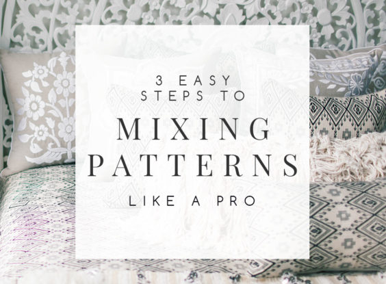 If you love pattern, mixing patterns in your home decor shouldn't be something you shy away from because you're not sure how to do it. This is a skill you can acquire. And I'm here to help you with an easy three-step approach that teaches you how to mix patterns like a pro. | #mixingpatterns #combiningpatterns #decoratingwithpattern #interiordesignideas #interiordecorating #interiordesign #decoratingblog #affiliatelink