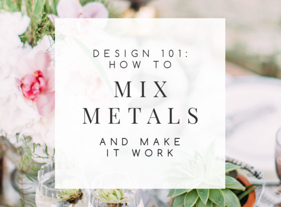 For years, there's been a common decorating myth that mixing metals is just not done. Thankfully, those days are gone. Bringing in different metallics makes a room more visually interesting. You'll love these easy to follow tips on how to do it right. | TheCasaCollective.com | #mixingmetals #mixingmetallics #metallicfinishes #mixmetals #interiordecorating #interiordesign #decoratingblog #affiliatelink