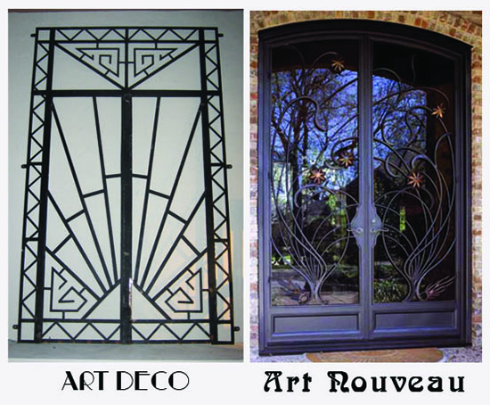 decorating style the difference between art deco and art nouveau. Black Bedroom Furniture Sets. Home Design Ideas