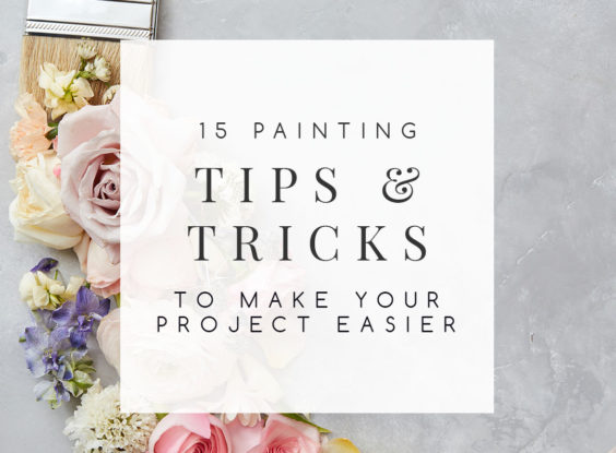 Paint is one of the most effective and affordable ways to change a room whether you're painting the walls or the furniture, but the process can be some work. Follow these painting tips to make your next project easier and more efficient. | TheCasaCollective.com | #paintingtips #paintingtricks #roompaintingtips #furniturepaintingtips #interiordecorating #interiordesign #decoratingblog #decoratingblogger